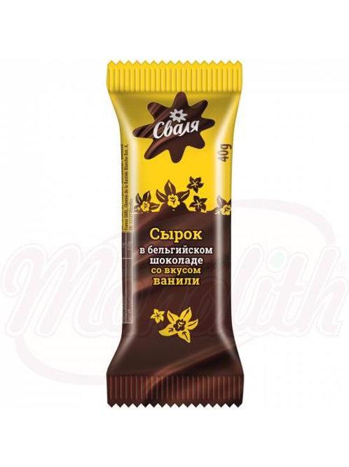 Cырок творожный co вкусом ванили в бельгийском шоколаде