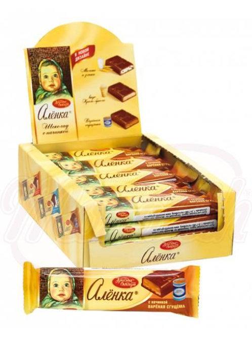 """*** Шоколадный батончик """"Бабаевский с начинкой  шоколада.48г/box-20st"""