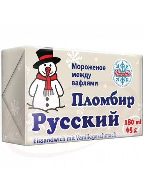 Мороженое между вафлями, пломбир 180ml