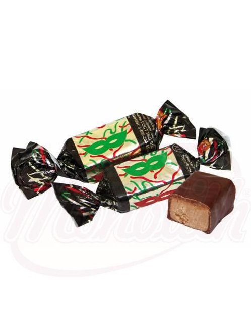 """Конфеты """"Маска"""" с арахисом в какаосодержащей глазури 100g"""