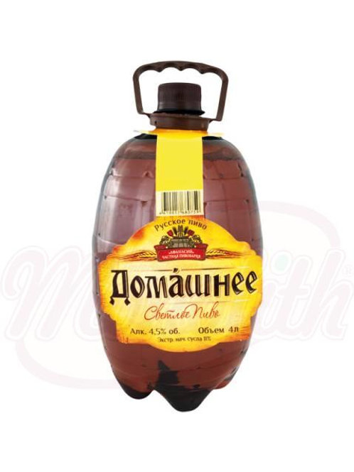 """Пиво светлое """"Домашнее"""", 4,5% алк. 4l"""