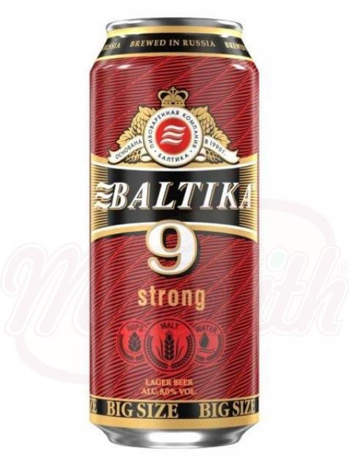 """Пиво светлое """"Балтика Крепкое"""" №9, 8,0% алк. 0.9l"""
