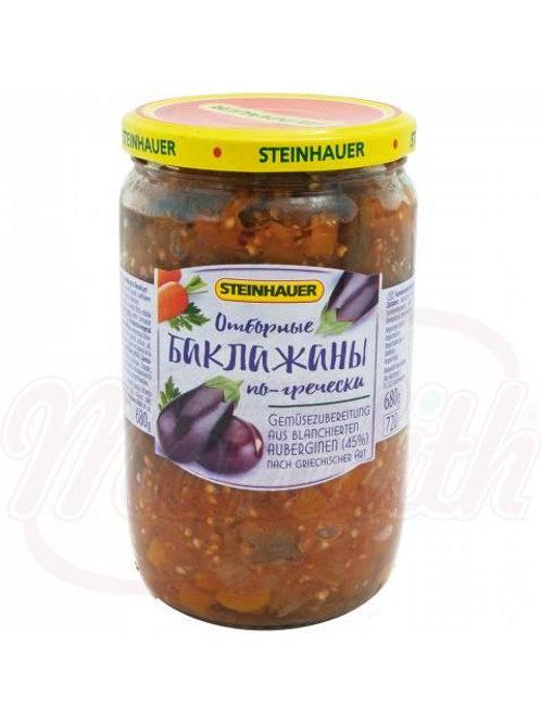 ***Овощной продукт из бланшированных баклажанов (45%), по гречески 680g box-6st