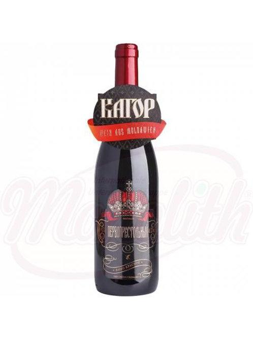 """Красное вино """"Кагор первопрестольный"""" полусладкое 12,0% 0.75l"""