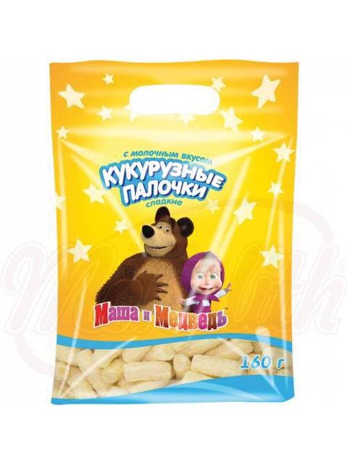 """Кукурузные палочки """"Маша и Медведь"""" molochnie 160g"""