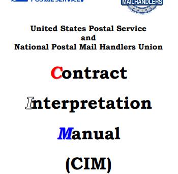 NPMHU-USPS Joint Contract Interpretation Manual (CIM) Version 5 Now Available