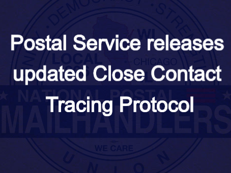 Postal Service releases updated Close Contact Tracing Protocol