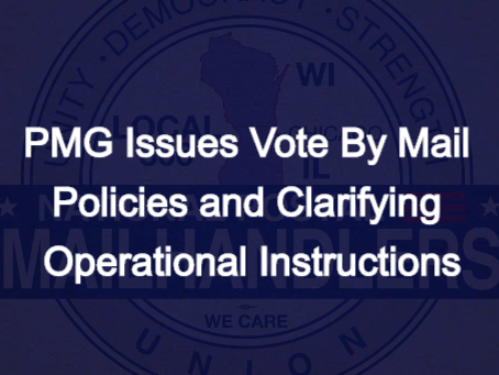 PMG Issues Vote By Mail Policies and Clarifying Operational Instructions