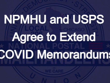 NPMHU and USPS Agree to Extend COVID Memorandums