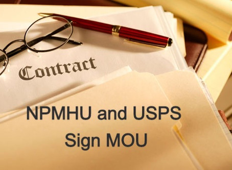 NPMHU and USPS Sign MOU Expanding Annual Leave Benefits For 2021 Leave Year
