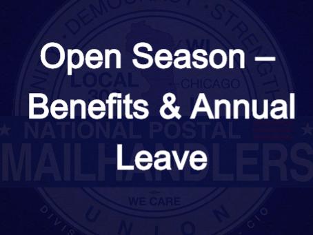 Open Season – Benefits & Annual Leave
