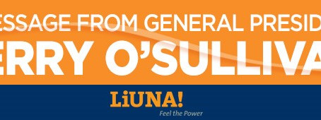A Thanksgiving Message from LiUNA General President Terry O'Sullivan