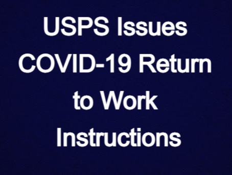 USPS Issues COVID-19 Return to Work Instructions