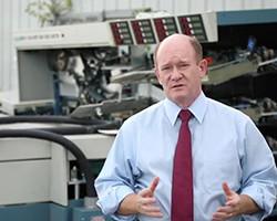 Sen. Coons visits USPS distribution center, discovers discarded letter-handling machinery removed du