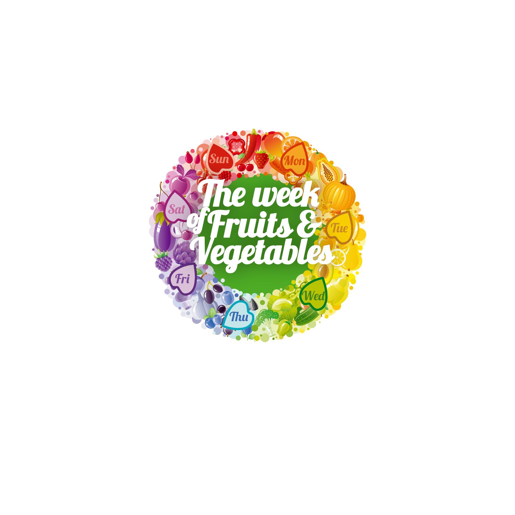 LOGO WEEK OF VEGETABLES & FRUITS