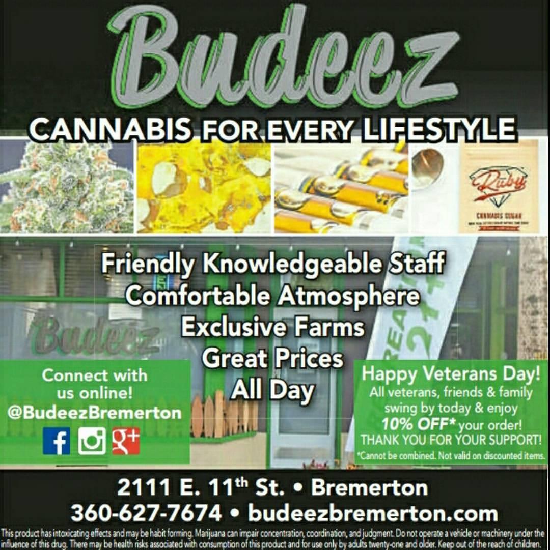 Budeez Bremerton Best Cannabis Company PNW Kitsap County