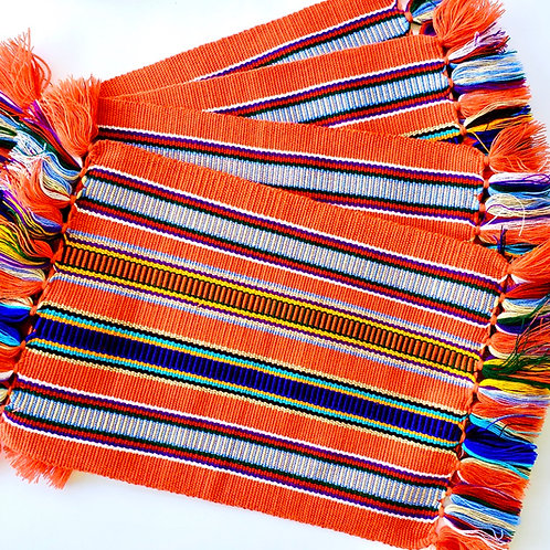 uhla anink (To Welcome Visitors) Hand Loomed by a Maya Artisan Set of Placemats