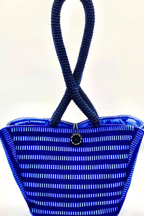Muan (The Owl) Shoulder Bag, Navy & Light Blue