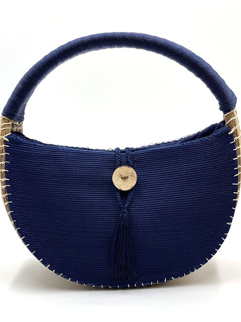 uuh tok (Moon Sparks) Basket Purse (navy)