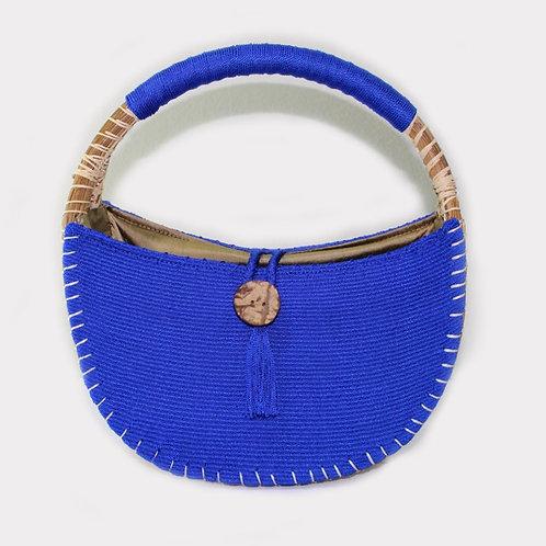 uh tok (Moon Sparks) Basket Purse (deep sea blue)