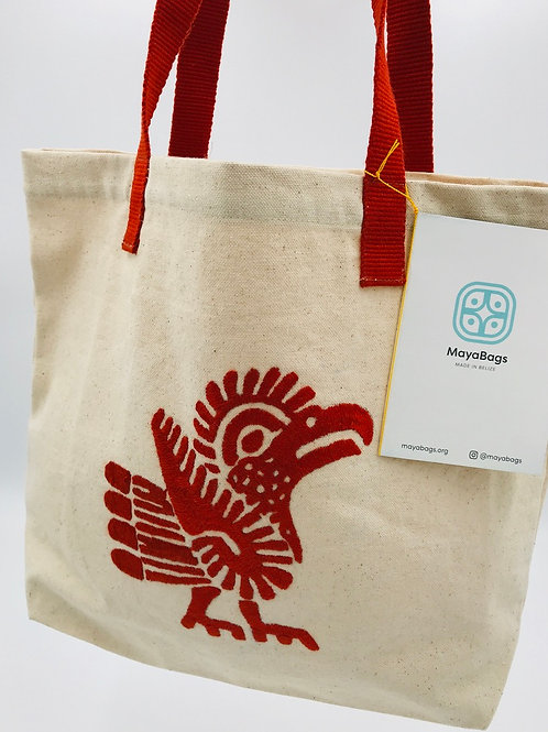 Hand-Embroidered Canvas Tote-Vigilant Pride