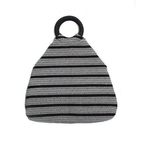 ch'am hand bag, clutch or shoulder bag (back/white)