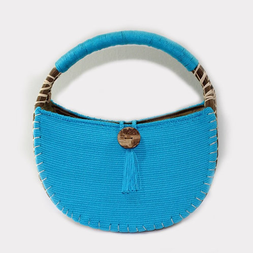 uh tok (Moon Sparks) Basket Purse (tanager blue)