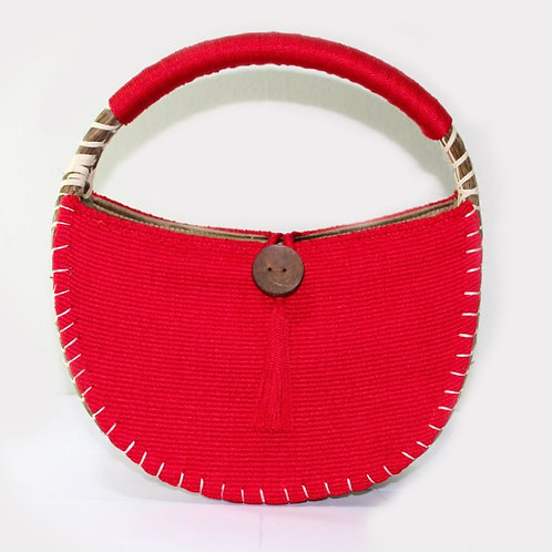 uh tok (Moon Sparks) Basket Purse (pomegranate red)