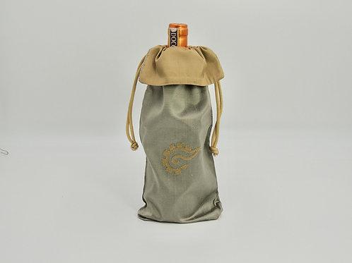 k'al (Tie) Silk Wine Bag - Bronze/Gold