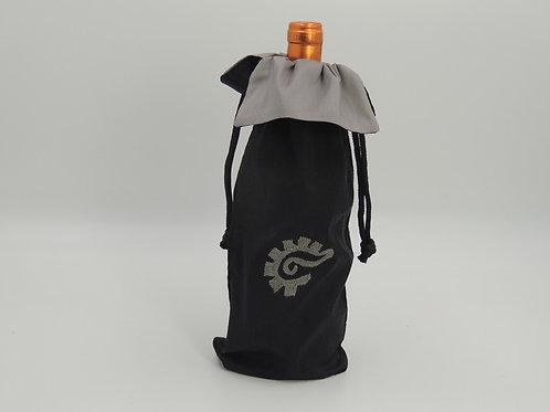 k'al (Close) Silk Wine Bag (black/silver)
