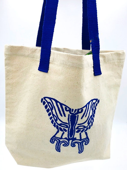 Hand-embroidered Canvas Tote-Delicate Wings
