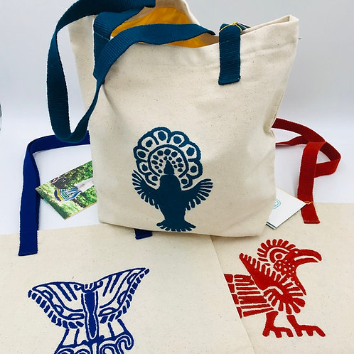Hand-Embroidered Canvas Tote-sweet satisfaction)