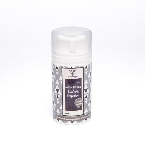 Aktív szenes zsályás vegán fogkrém 75 ml