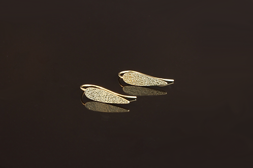 Large leaf earrings £95