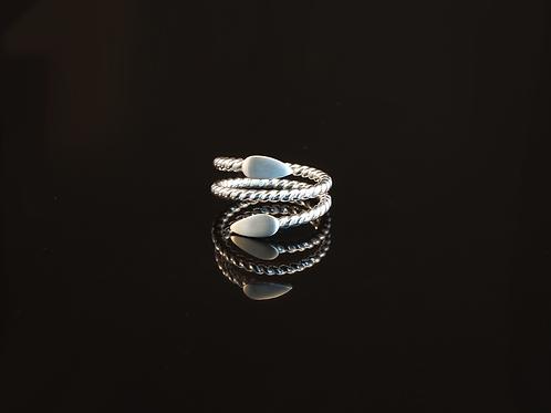 Twisted wrap leaf ring  £120