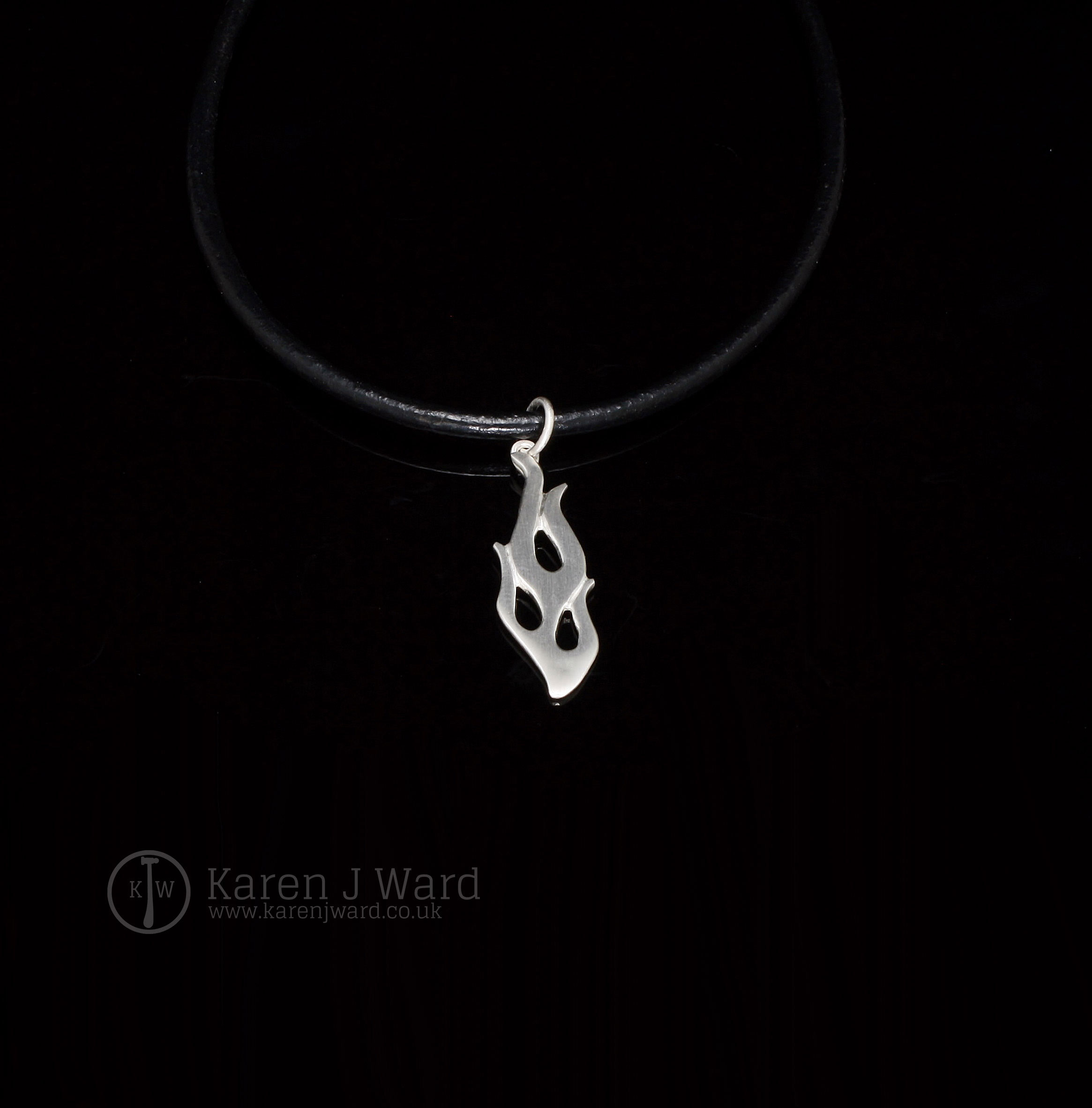 Sterling silver Custom Flame pendant