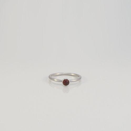 Garnet satin ring £80