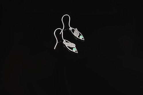 Chrysoprase marquise drop earrings      £110.00