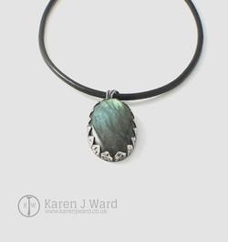 Dragonscale labradorite pendant