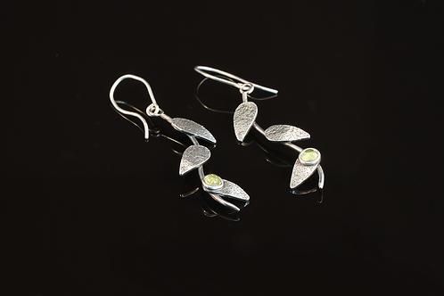 Oxidised Peridot drop earrings  £110