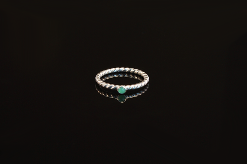 Chrysoprase ring  £80