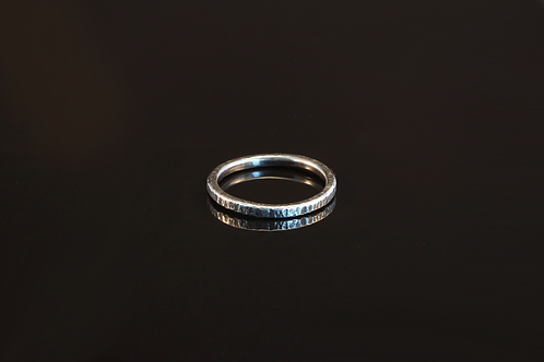 Oxidised sterling silver ring  £70