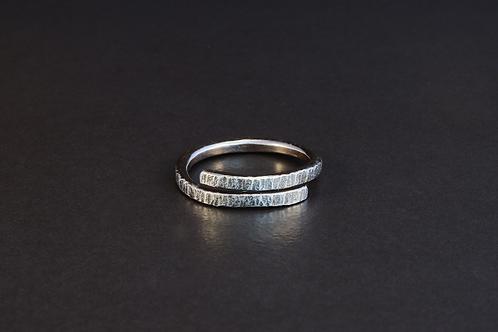 Oxidised wrap ring U 1/2  £90