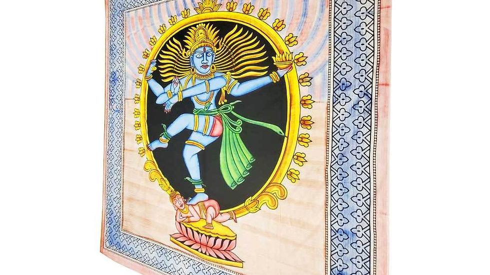 Dancing Shiva Pose Natarajasana Full Size Tapestry Wall Hanging