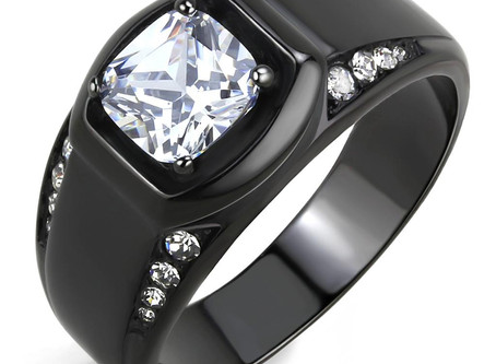 Black(Ion Plating) Stainless Steel Ring