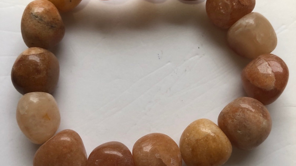 Yellow aventurine beads bracelet