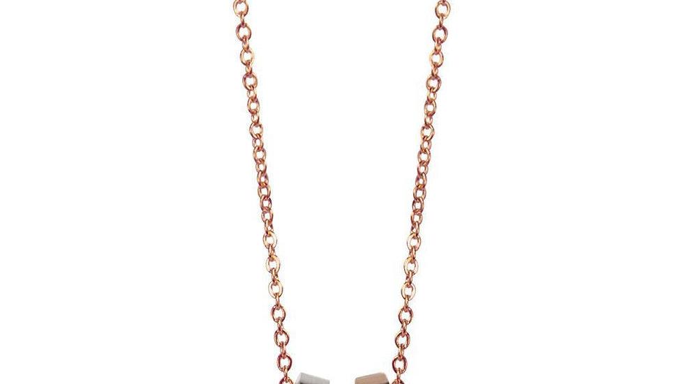 Triple Hoop Necklace- Rose