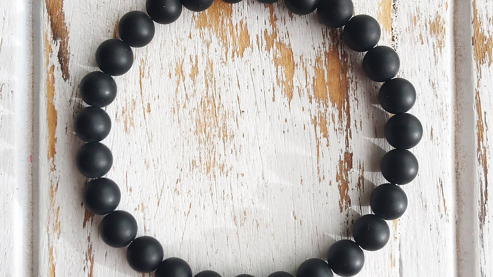 6mm Matte Black Onyx Bracelet