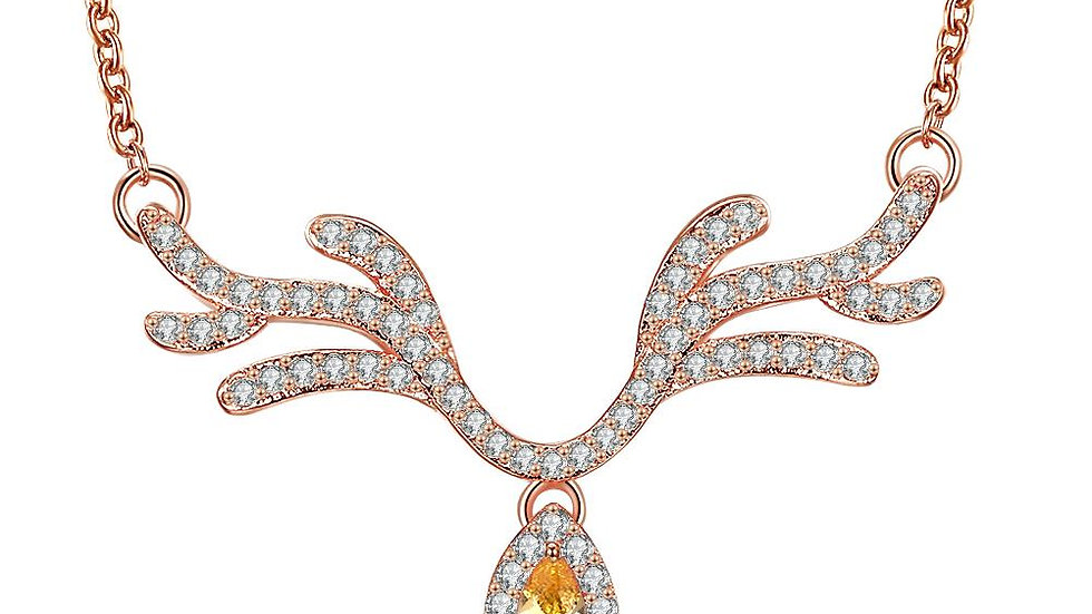 Necklace in 18K Rose Gold Plated - Christmas Collection with Swarovski