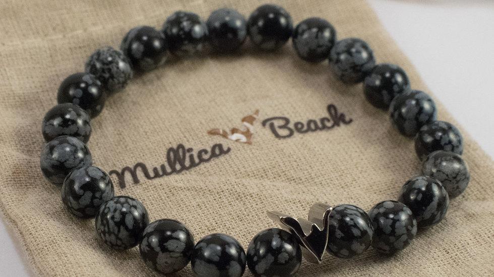 Gemstone Bracelet - Gray Scale